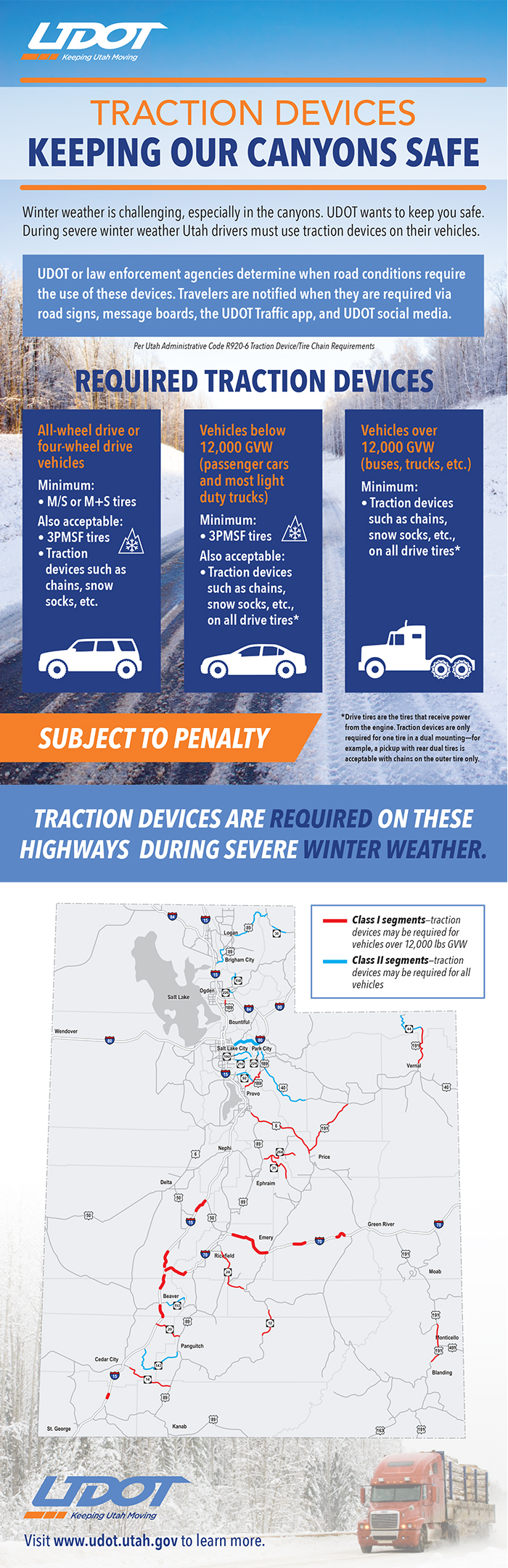 Flyer about snow tires